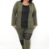 Теплый женский костюм 52 размер