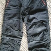 Одним лотом двое! Демисезонные штаны на флисе Н&М .От 2 до 4 лет.