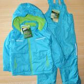 Зимний костюм,куртка и штаны на подтяжках.Фирмы impibimpi 74-80 см