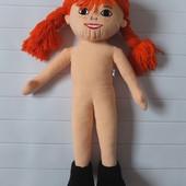 Мягкая игрушка кукла Пеппи длинный чулок , большая! бренд Micki