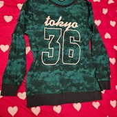 камуфляжный свитер H&M в хорошем состоянии