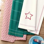 ❖Набор 3 шт. Кухонные полотенца из чистого хлопка, от тсм Tchibo (чибо), Германия