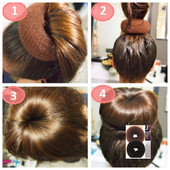 !в лоте 5шт.валик для волос (в наличии черный и коричневый цвет)