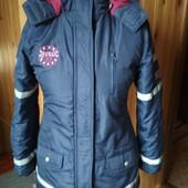 Pepperts Зимняя куртка (пальто) на девочку со светоотражателями.