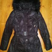 Зимняя теплая куртка р.Л натуральный мех.