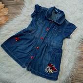 Вау! Класснючее джинсовое платьице от Disney на 1 годик