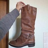 демі чоботи шкіряні  clark's 25.5 см