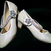 р34(21,3-21,5см)Новогодние туфельки для принцессы.Детские туфли RSB.