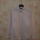Красивая хлопковая рубашка, розового цвета ! УП скидка 10%