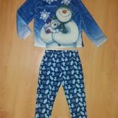 Без дефектов! Теплющая плюшевая пижама или домашний костюм!5-6 л и р 110-116 см!