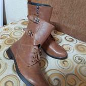 Ботинки деми, осень сапоги, ботики 38 размер, 24,7см стелька кожанные