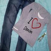 Фирменный лот:джинсы-скинни + реглан в идеале,S-M