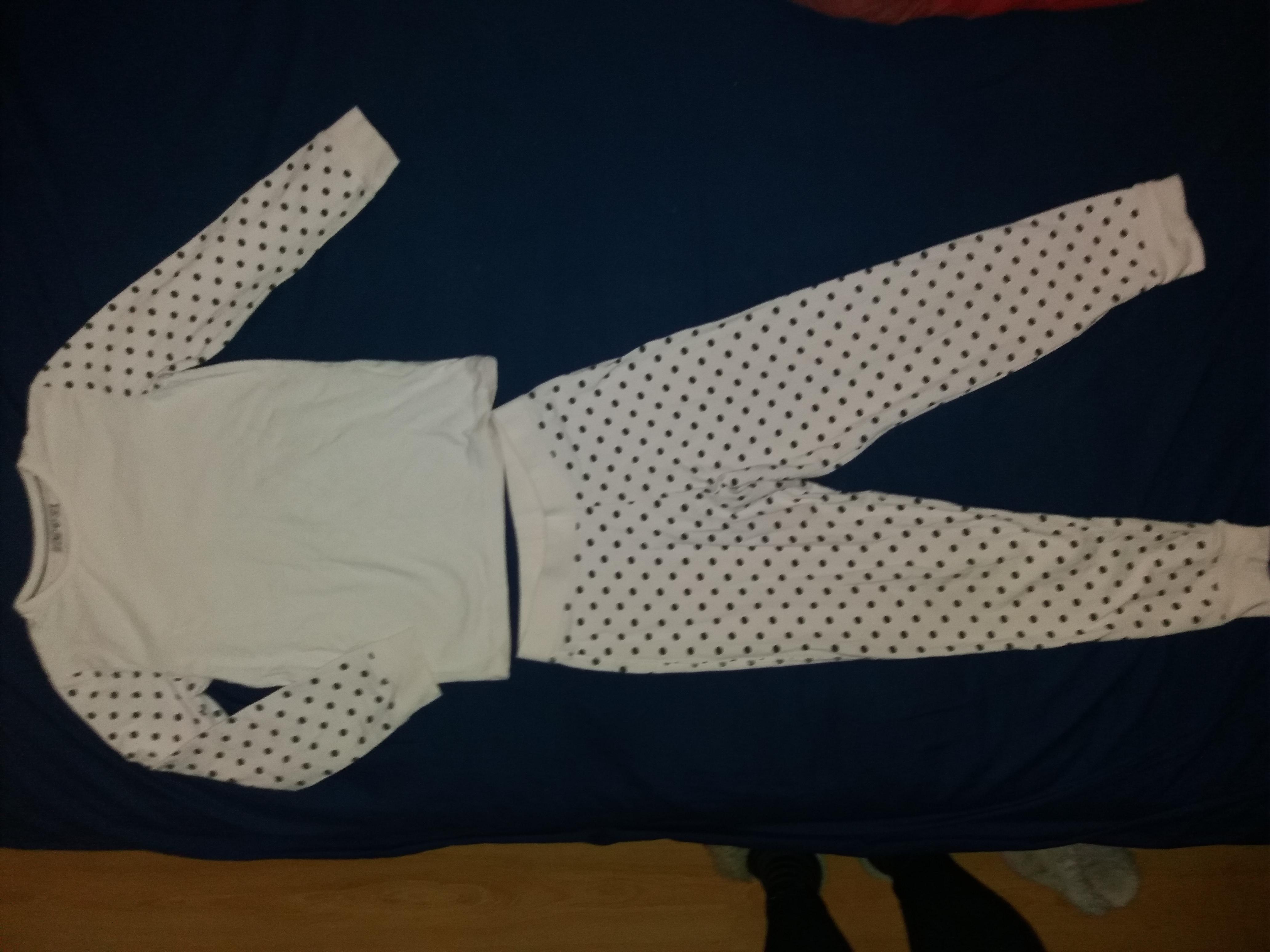 Без дефектов!Нежная пудровая хлопковая пижамка на 7-8 л и р 122-128 см!