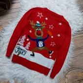 Вау! Тёпленький мягусенький новогодний свитерок на 5/6 лет