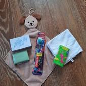 Наборчик засобів гігієни для діток, зубні щітки з присосками ✔️