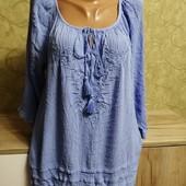 Собираем лоты!!! Блуза жатка очень красивого цвета, размер 14 /42,100 %вискоза