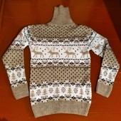 Новый шерстяной свитер на подростка турецкого производства!