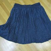 Шикарная фирменная юбка-плисе с люрексом, смотрите замеры