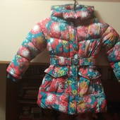 Курточка зимняя на девочку.Рост 98-110