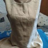 Платье песочного цвета из льна(на подкладке) на 46-48(укр.)