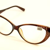 Стильные имиджевые очки Кошечки и Лисички для зрения! Низкая цена !плюс +1,5
