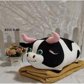 Ідея подарунка на св'ята Іграшка - плед - подушка величезна Корівка або Бичок