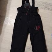 Зимние штаны на подтяжках