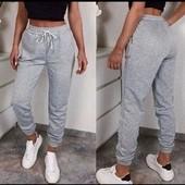 Хит продаж! Теплые спортивные штаны джоггеры на флисе, 42-44, 46-48 рр, 4 цвета!