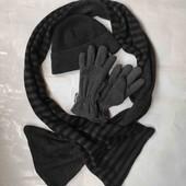 Зимний мужской термо комплект: шапка, перчатки, шарф. C&A Германия. Подойдёт подростку.