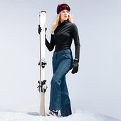 Лыжные брюки на байке под джинс, мембрана 3000 от tchibo германия размер 42 евро=48
