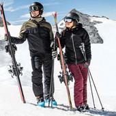 Красивые бордовые лыжные штаны Crane, р.М 40/42 (наш 46/48)
