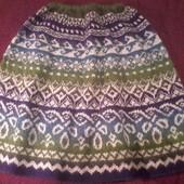 Шикарная и очень теплая юбка на зиму из пряжи кауни
