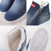 Теплые джинсовые ботинки на меху, sports (унисекс) на р. 41.5-42.5