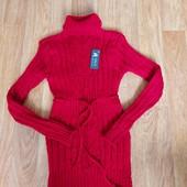 Не пропустите!!!Шикарное новое телое вязаное платьице на девочку 9-14лет