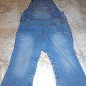 красивий качествений джинсовий  комбинезон утеплений відно на фото для девочке!