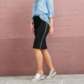 Стильная стрейчевая юбка с лампасами Esmara Германия размер евро М (40/42)