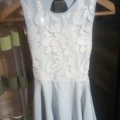 Мятное стильное красивое платье на 20 лет