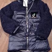 Утеплённая деми курточка-парка для девочек