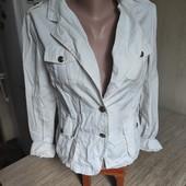 Собирай лоты) Котоновый котоновый белый пиджак для девочки 11-14 лет