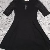 Красивое маленькое чёрное платье размер с/м замеры на фото