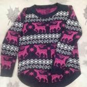 Тёплый свитер с оленями, р. 46-48.