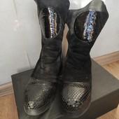 Сапоги ботинки зимние 39р кожаные