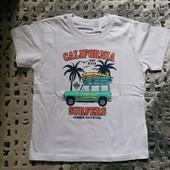 Блиц-цена! Классная футболка на 6 лет рост 116! из Польши! качество премиум! хлопок!
