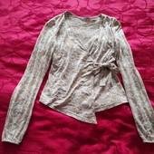 Очень красивая стильная брендовая блузка на запах Cliff