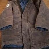 Теплая куртка парка,1-2 года