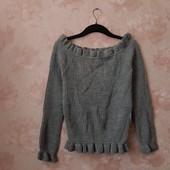 Красивый свитер с открытыми плечами ! УП скидка 10%