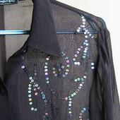 шикарная нарядная рубашка шифон 42 евро