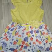 Красивое летнее платье на девочку 3-4года замеры на фото