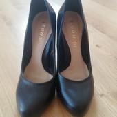 ❤Натуральная КОЖА, туфли 37 р-р, 24см по стельке, устойч.каблук❤уп 15%, нп 5% скидка!