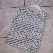 Стоп! ❤Органический хлопок,классная футболочка H&M,9-10 лет❤Собирайте лоты
